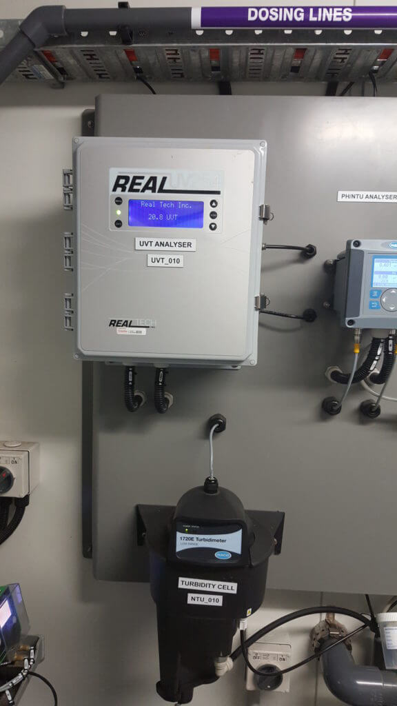 UVT Analyser installed as part of a MBR system
