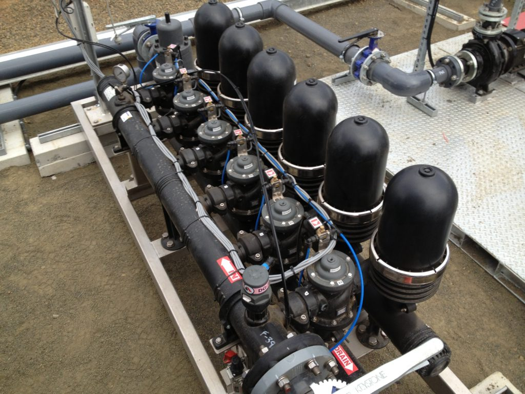 CSG Water Treatment Plant Disk Filter for Solids Removal