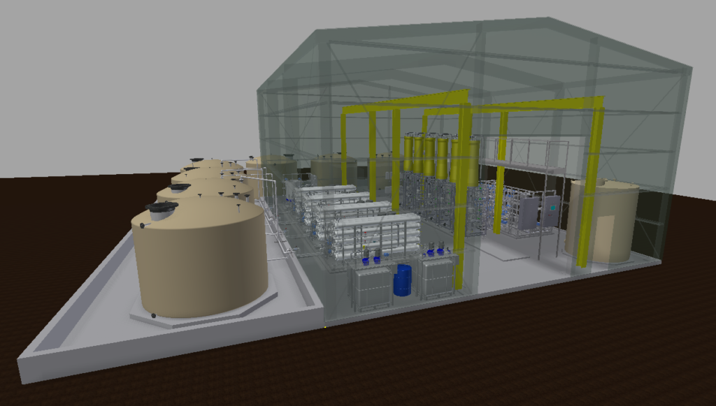 Waste water treatment plant design for