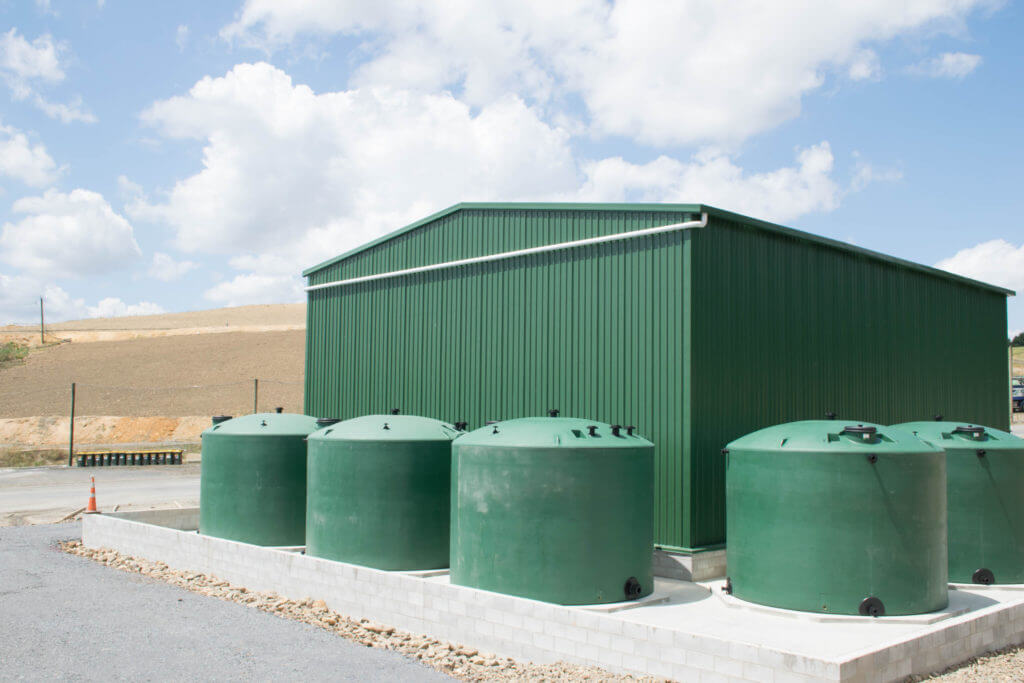 Hamption Downs Shed and Tanks